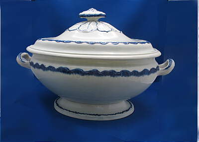 SOLD   Blue Shell Edge Tureen