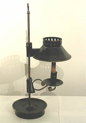 Early Tin Student Lamp
