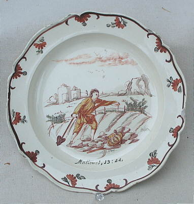 Accessories<br>Archives<br>SOLD  Dutch Decorated Creamware Plate
