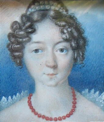 Miniature Portrait of a Young Woman on Ivory