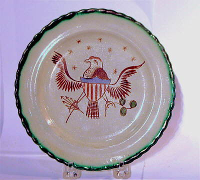 Furniture<br>Furniture Archives<br>SOLD  Pearlware Eagle Plate