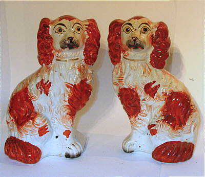 SOLD   Pair of Staffordshire Dogs