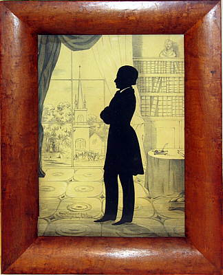 Paintings<br>Archives<br>A Silhouette of a Gentleman from Saratoga