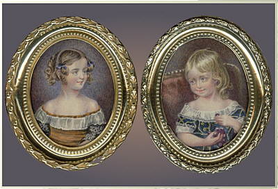 Paintings<br>Portrait Miniatures<br>A Charming Pair of Watercolor Siblings