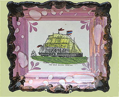 Accessories<br>Archives<br>SOLD   Sunderland Lustre Plaque of The Great Eastern Steamship