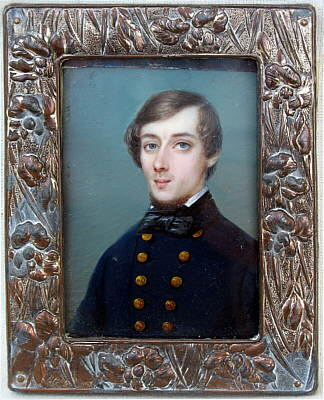 Miniature Portrait on Ivory of a Young Gentleman