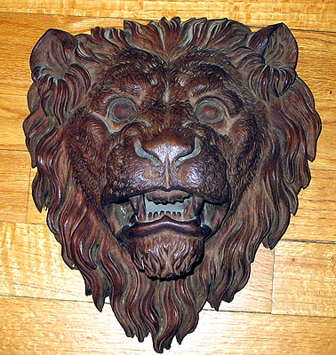 SOLD   A Carved Victorian Lion