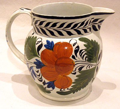 SOLD   A Polychrome Pearlware Jug