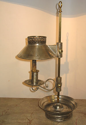SOLD  A Tin Student Lamp
