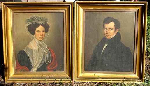 Paintings<br>Archives<br>SOLD   A Pair of American Oil on Canvas Portraits
