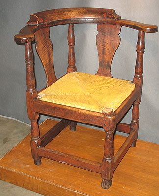 Furniture<br>Furniture Archives<br>SOLD  Spanish Foot Corner Chair