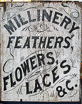 19th century painted sign.