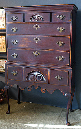 SOLD  A Queen Anne High Chest of Drawers