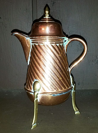 SOLD  Miniature copper coffee or chocolate pot