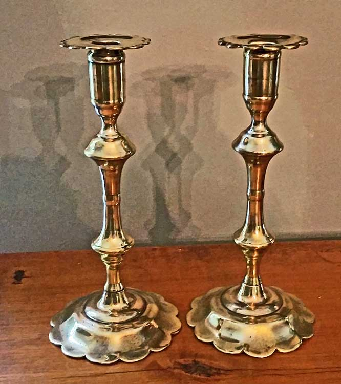Pair of Queen Anne Candlesticks