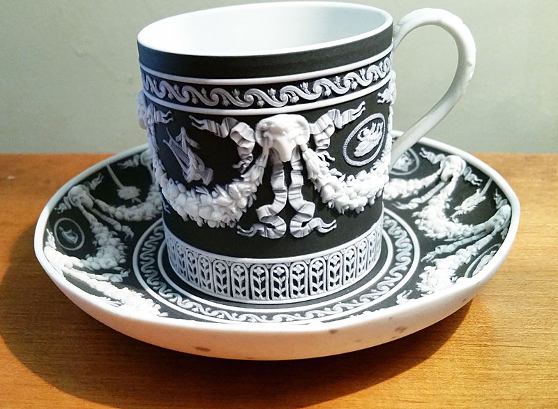 Wedgwood Jasper Cup and Saucer