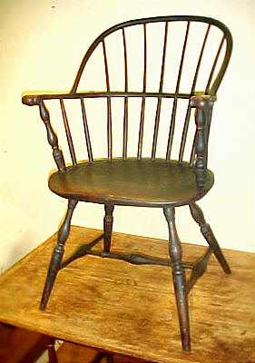 SOLD  Knuckle Arm Windsor Fanback Chair