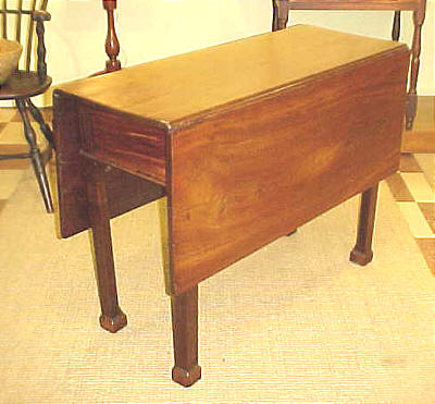 SOLD  Philadelphia Chippendale Drop Leaf Table