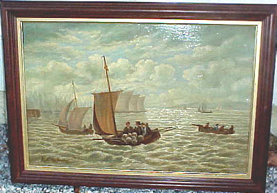 Painting of New York Harbor