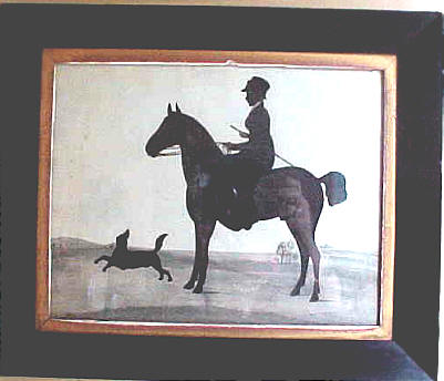 Accessories<br>Accessories Archives<br>SOLD   Silhouette of Woman, horse and dog