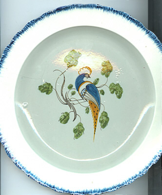 SOLD   Peafowl Plate