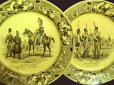 SOLD   Set of French Creil Military Plates