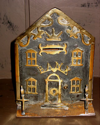 SOLD   Brass and Iron  Bank