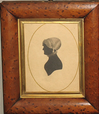 SOLD   Silhouette of Ann Courtnall