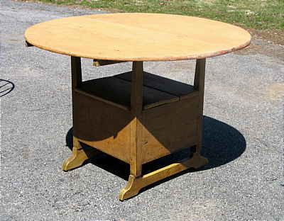 SOLD  A HUTCH TABLE THAT REALLY CUTS THE MUSTARD