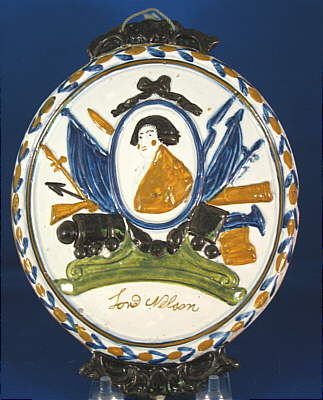 SOLD   Prattware Plaque of Lord Nelson