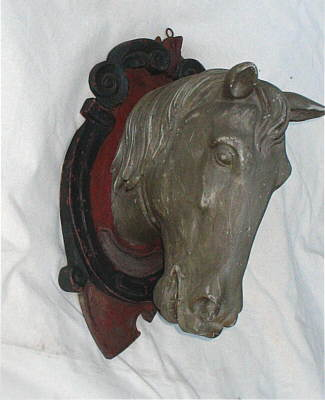 SOLD   Carved Wooden Horse Head