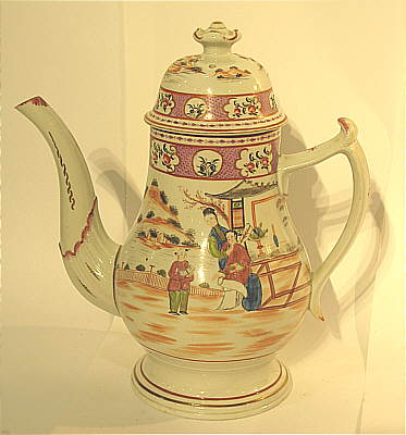 SOLD   A Newhall (?) Porcelain Coffee or Tea Pot