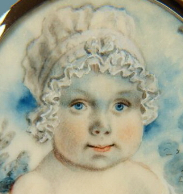 Paintings<br>Archives<br>An Adorable Miniature Portrait of a Baby