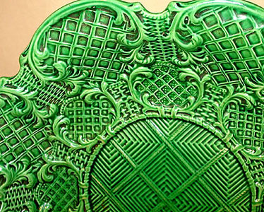 SOLD   Green-Glazed Molded Dish