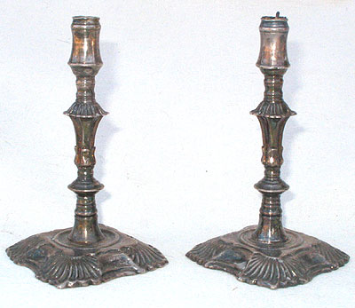 A Pair of Silver Plated Tapersticks