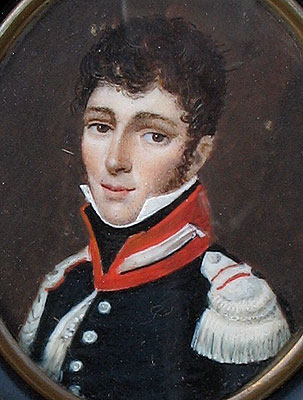A Portrait Miniature of a Soldier