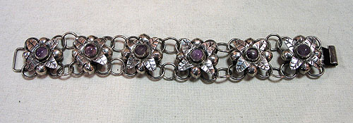 SOLD  A Silver and Amethyst Bracelet