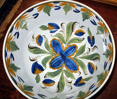 SOLD An Exciting Pearlware Bowl
