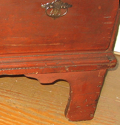 Furniture<br>Furniture Archives<br>SOLD  An Untouched Late 18th Century Massachusetts Tall Chest