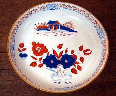 Ceramics<br>Ceramics Archives<br>SOLD  A Lowestoft Soft Paste tea bowl and saucer.