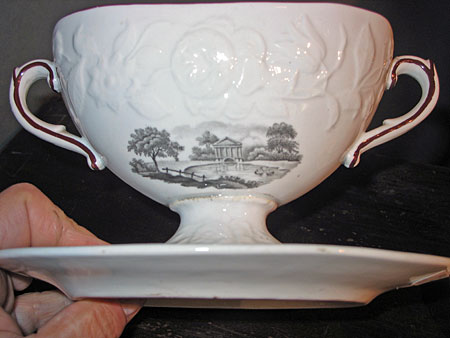SOLD  A pair of Soft Past Porcelain Small Tureens