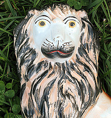 Ceramics<br>Ceramics Archives<br>SOLD  Staffordshire Lion (and Lamb)