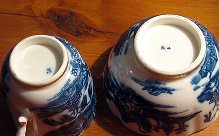 Two Caughley Soft Paste Porcelain Cups.