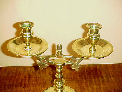 Pair of Brass Candleabra