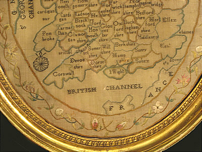 Accessories<br>Accessories Archives<br>SOLD   Embroidered Map of England and Wales