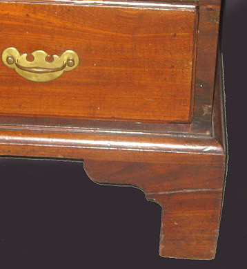 SOLD  A SCARCE 30� CHIPPENDALE SLANT-LID DESK IN MAHOGANY