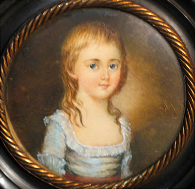 SOLD  Charming Portrait Miniature of a Child