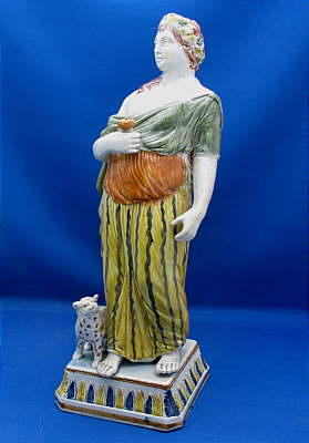 SOLD   Magnificent Pratt Figure of the Goddess Diana