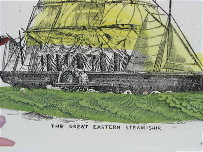 SOLD   Sunderland Lustre Plaque of The Great Eastern Steamship
