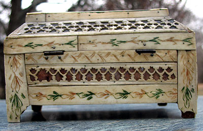 SOLD A Small-Sized Russian Ivory Box